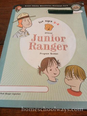 Jr. Ranger Booklet