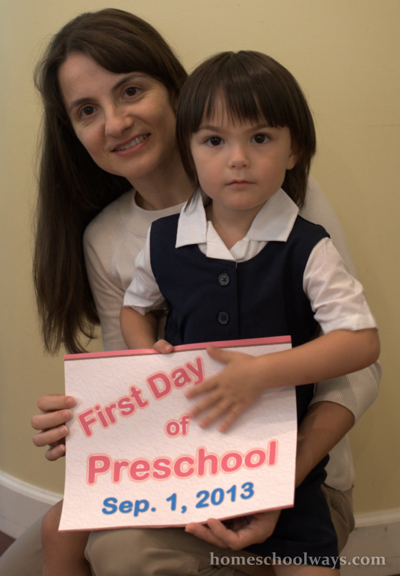 First Day of Preschool at Home