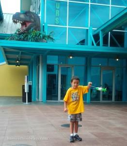 Showing off his shooting star Ripley's Aquarium