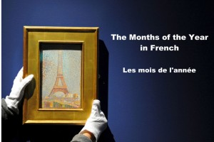 The months of the year in French