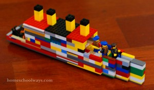 My son built this LEGO Titanic without instructions