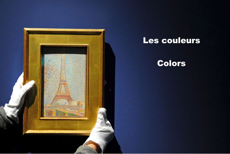 French Friday Colors Flash Cards