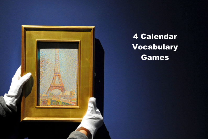 French Days of the Week Calendar Games