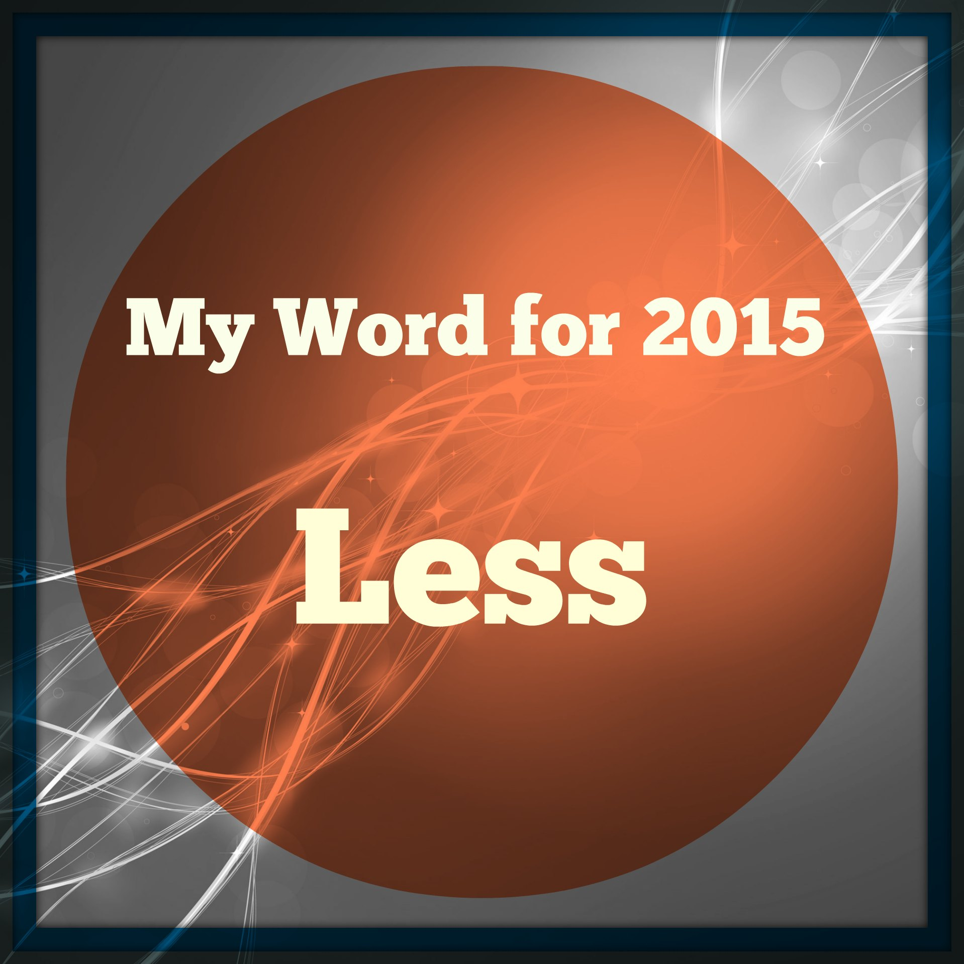 My Word for 2015