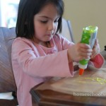 Pouring glitter glue - Elmer's Glitter Glue