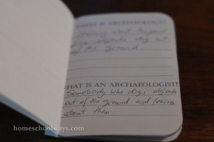 Archaeology Booklet
