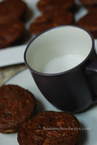 Harvest muffins with a glass of rice milk