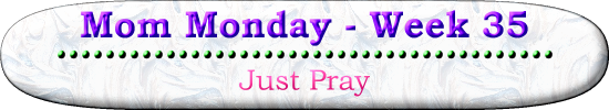 Mom Monday Week 35 Just Pray