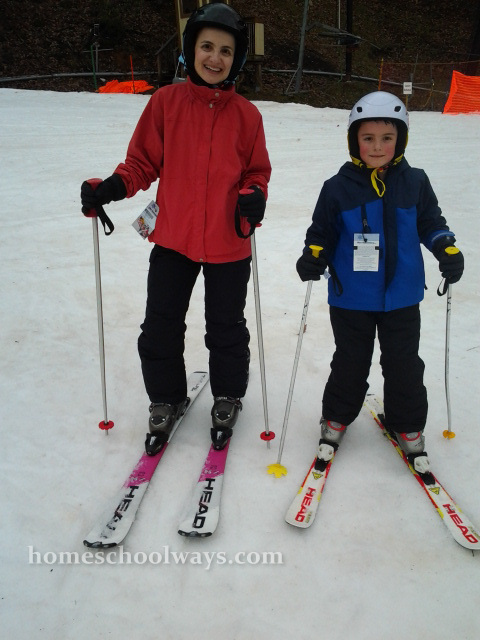 My son and I during our first ski lesson