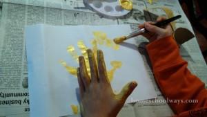 Gold Hand Print