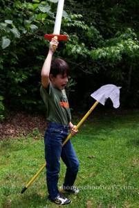 Boy on Stick Horse