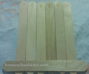 Craft Sticks with Glue