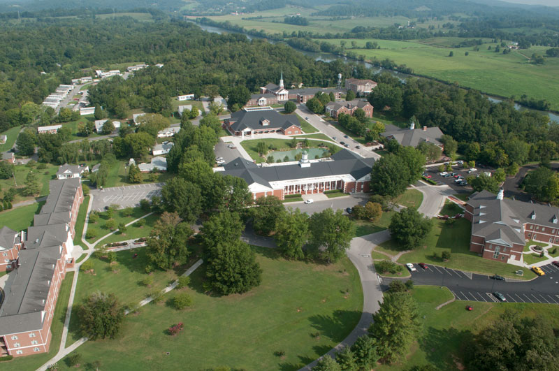 Aerial view of Johnson University