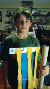 Boy with flag craft