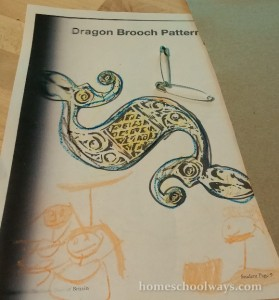 Celtic brooch materials