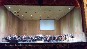 The Knoxville Symphony Orchestra tuning up before the concert
