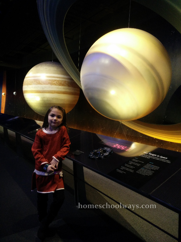 Our daughter at the Adventure Science Center in Nashville
