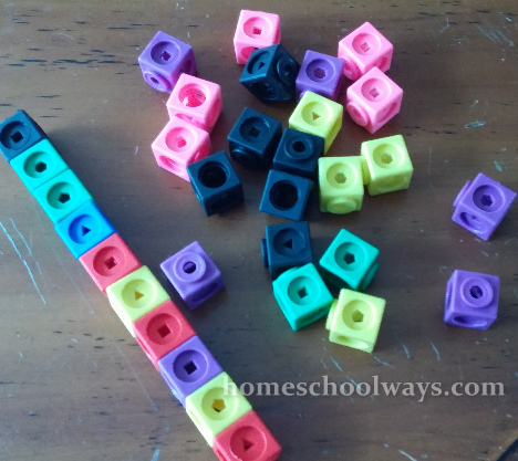 Math Linkcubes can also be used to help a child understand how a ten becomes ten ones.