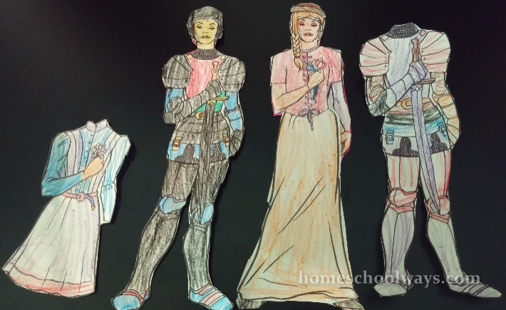 Joan of Arc paper dolls