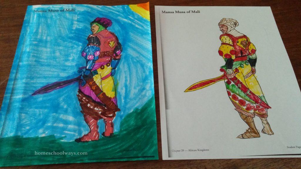 Musu Mansa coloring page