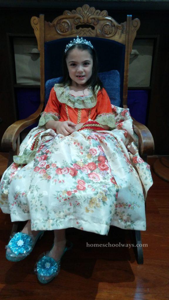Girl dressed as an empress