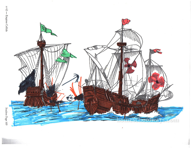 Spanish Armada coloring page