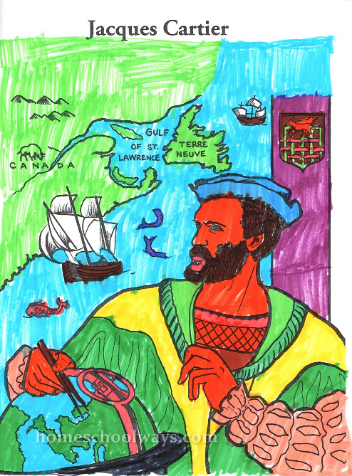 Jacques Cartier coloring page