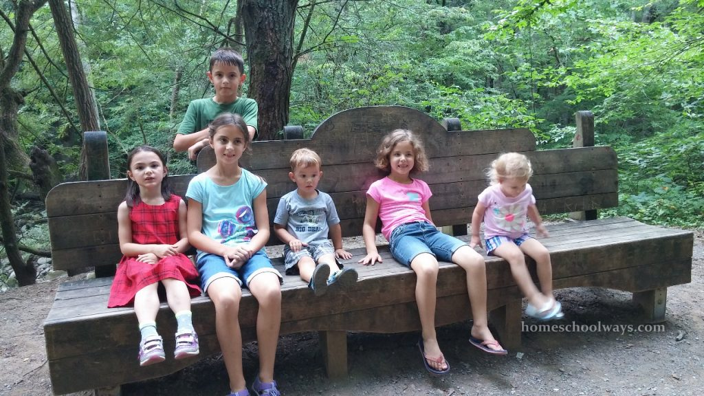Children hiking in the Smokies