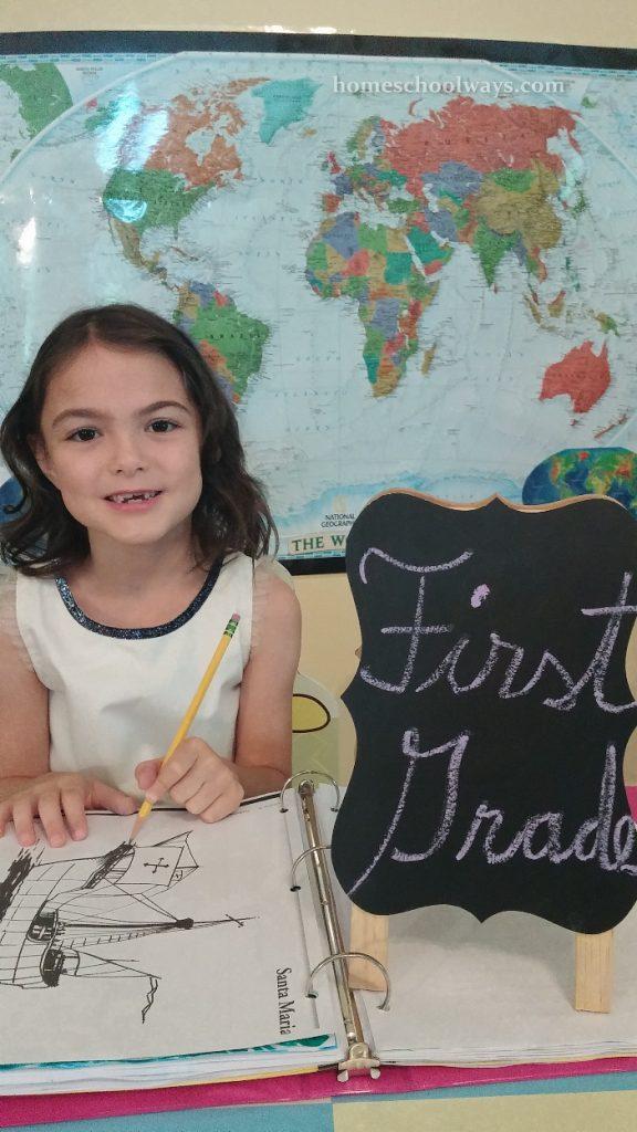 Girl Starts First Grade