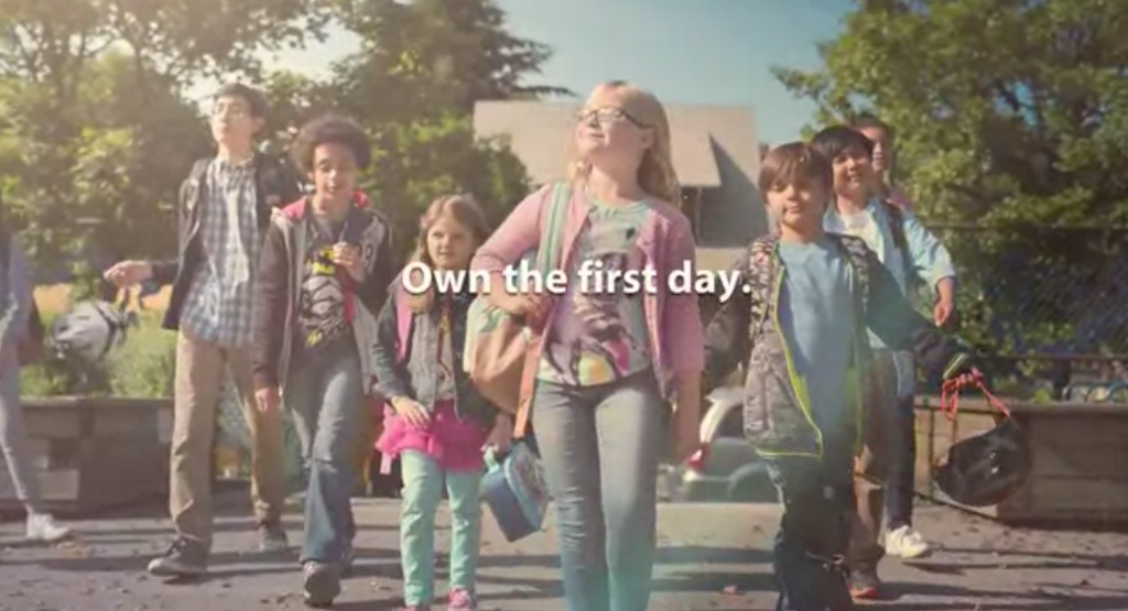 Walmart back-to-school campaign
