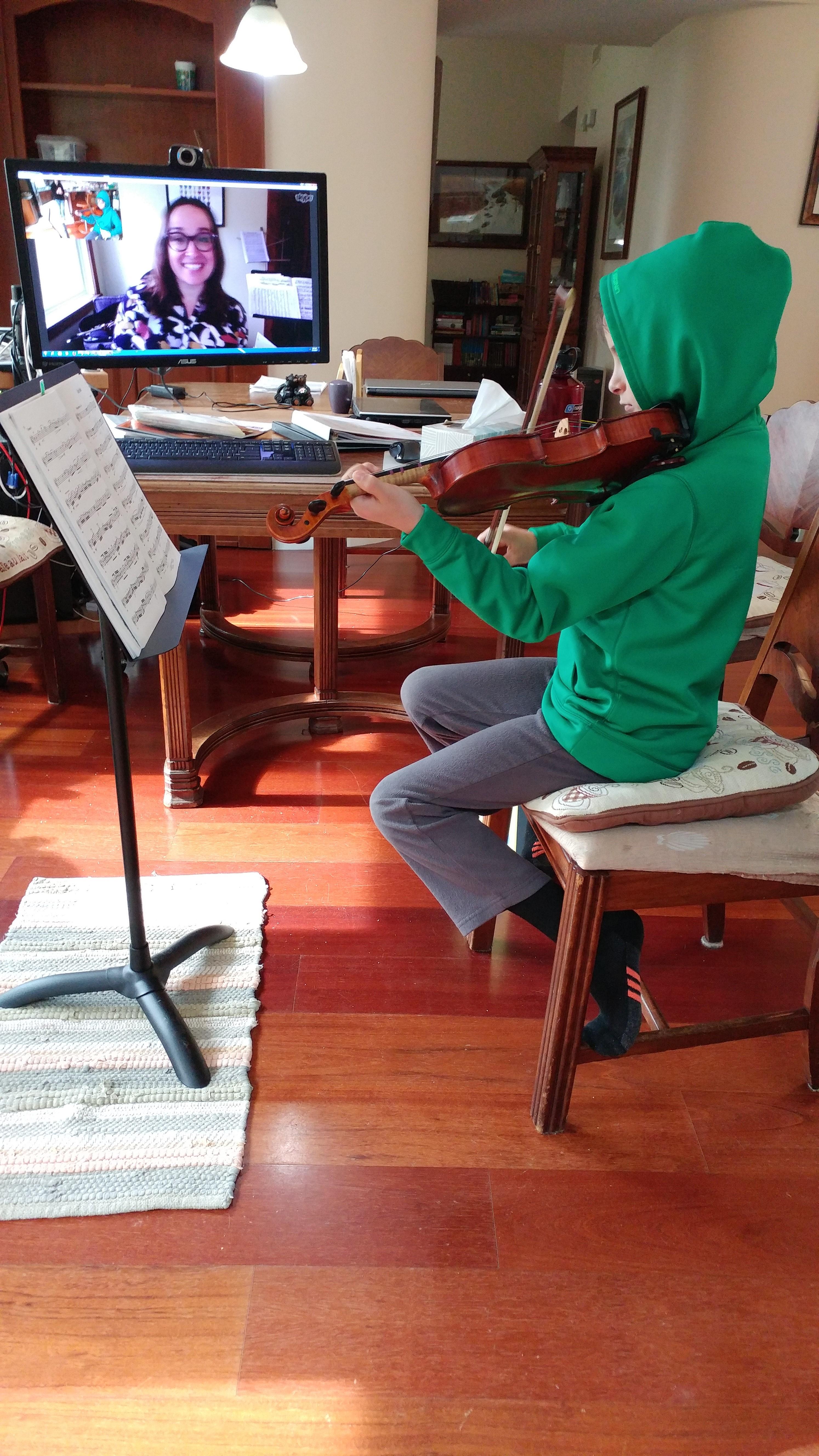 Skype violin lesson