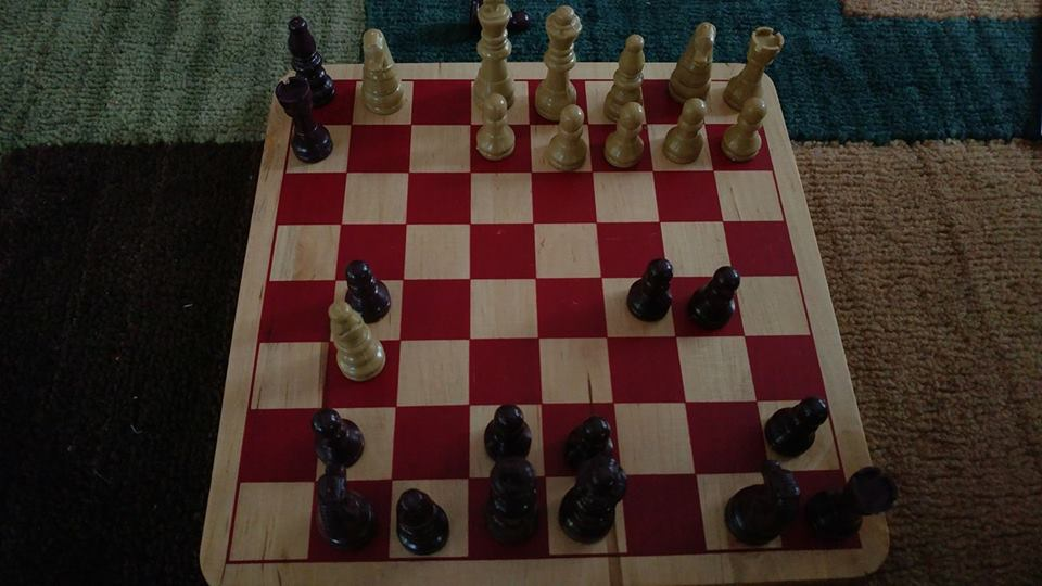 Chess board with check mate position