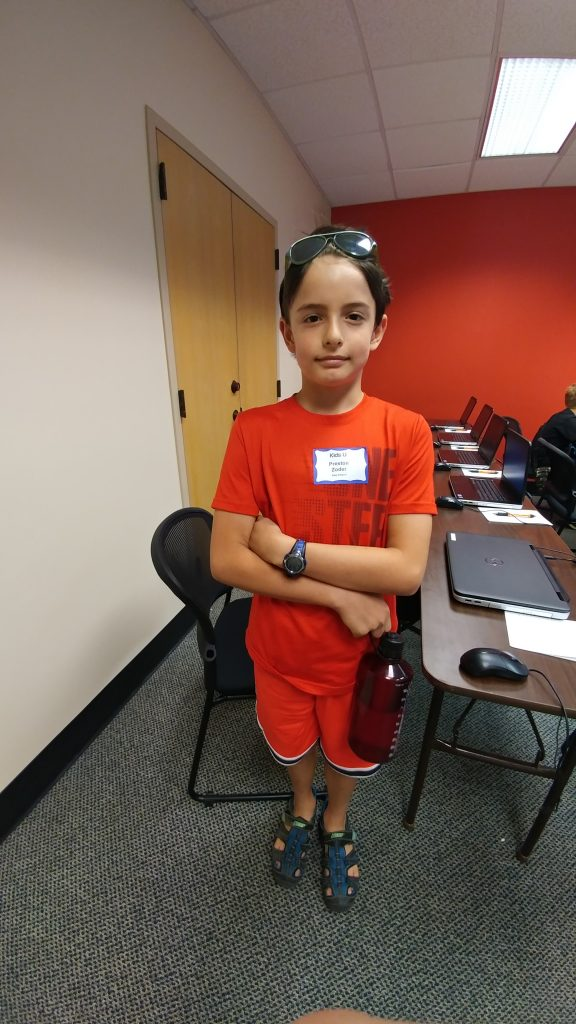 Boy attending App Attack