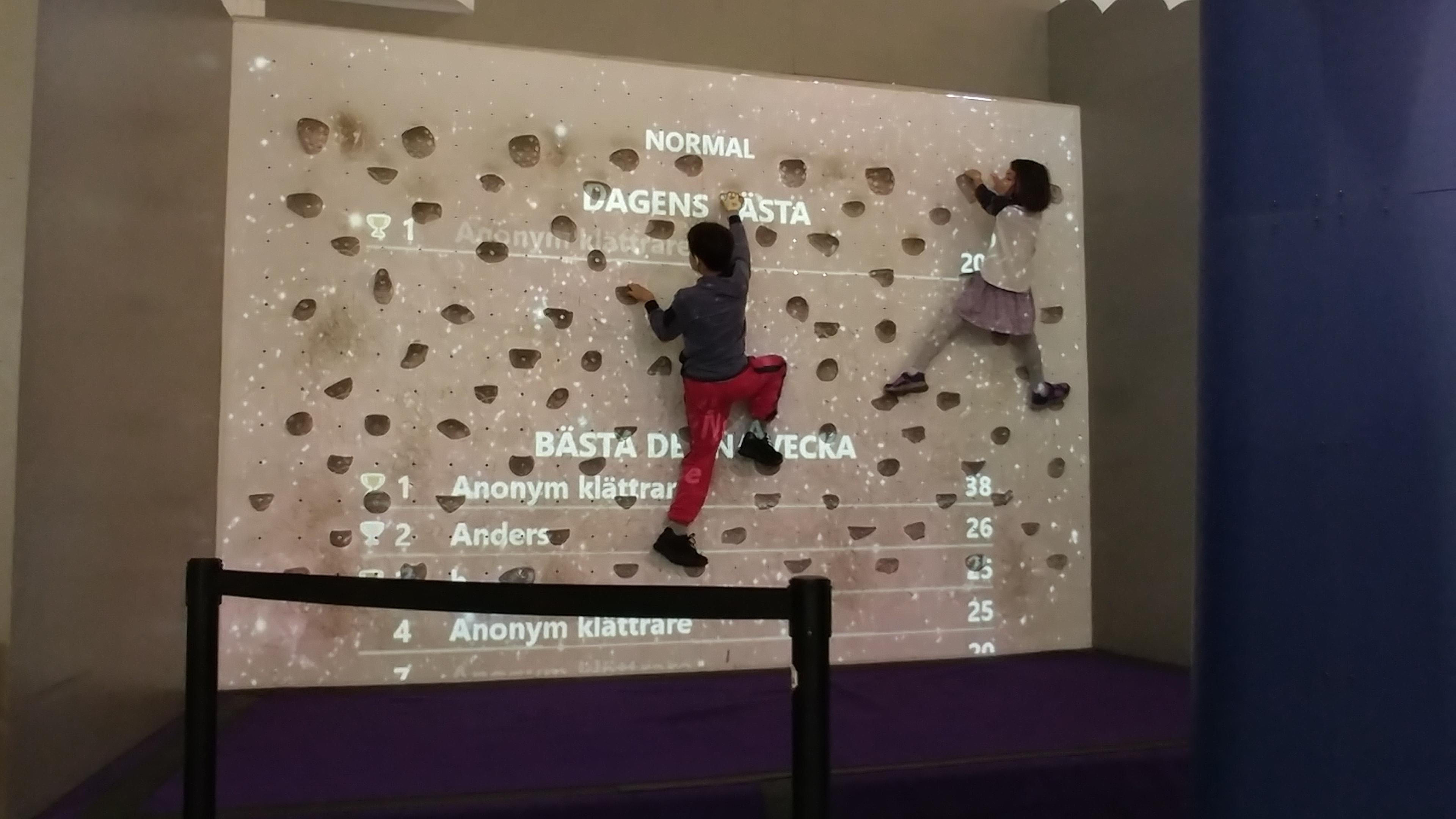 Climbing Wall at Tekniska Museet