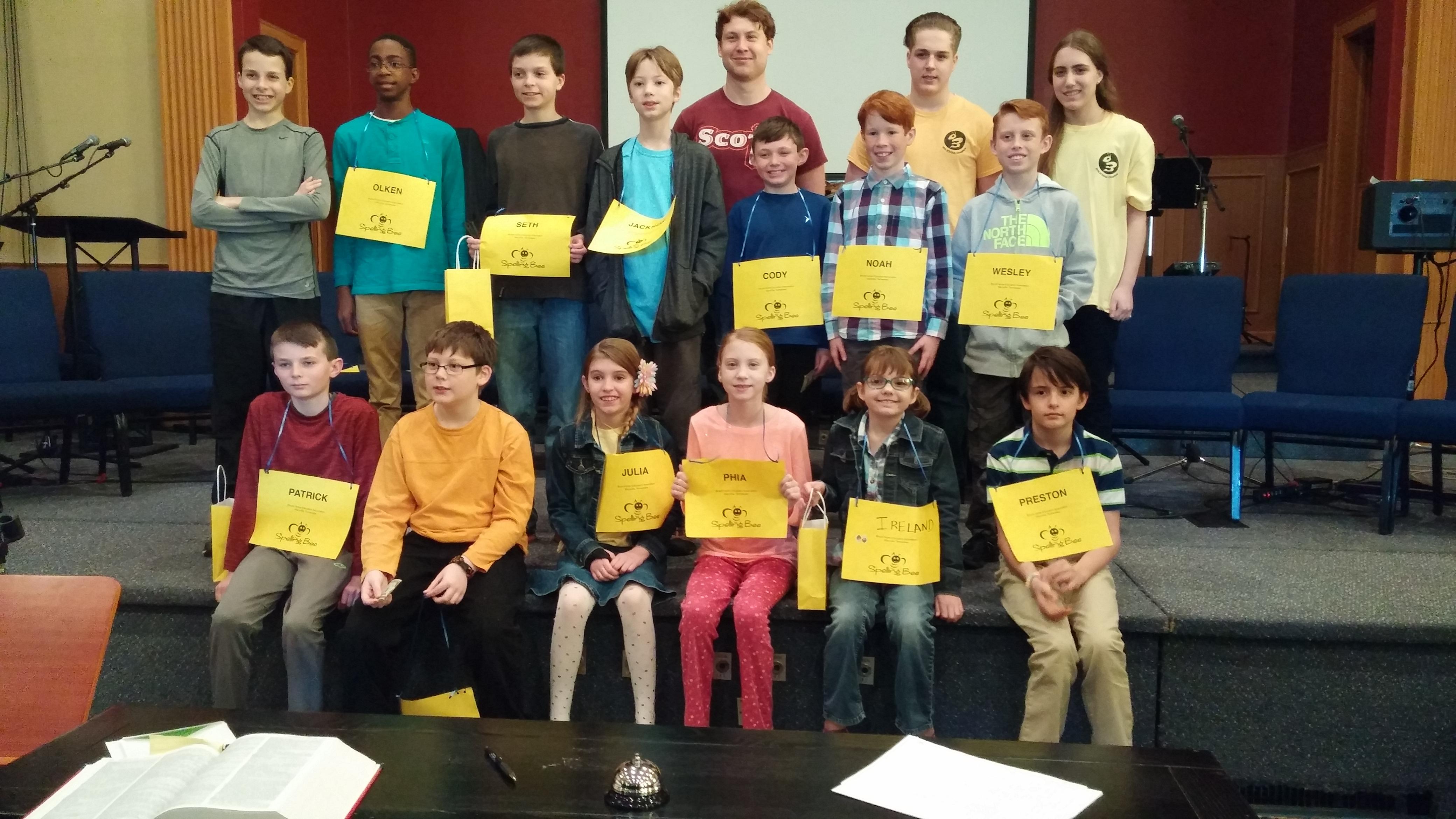 BHEA Spelling Bee - January 2017