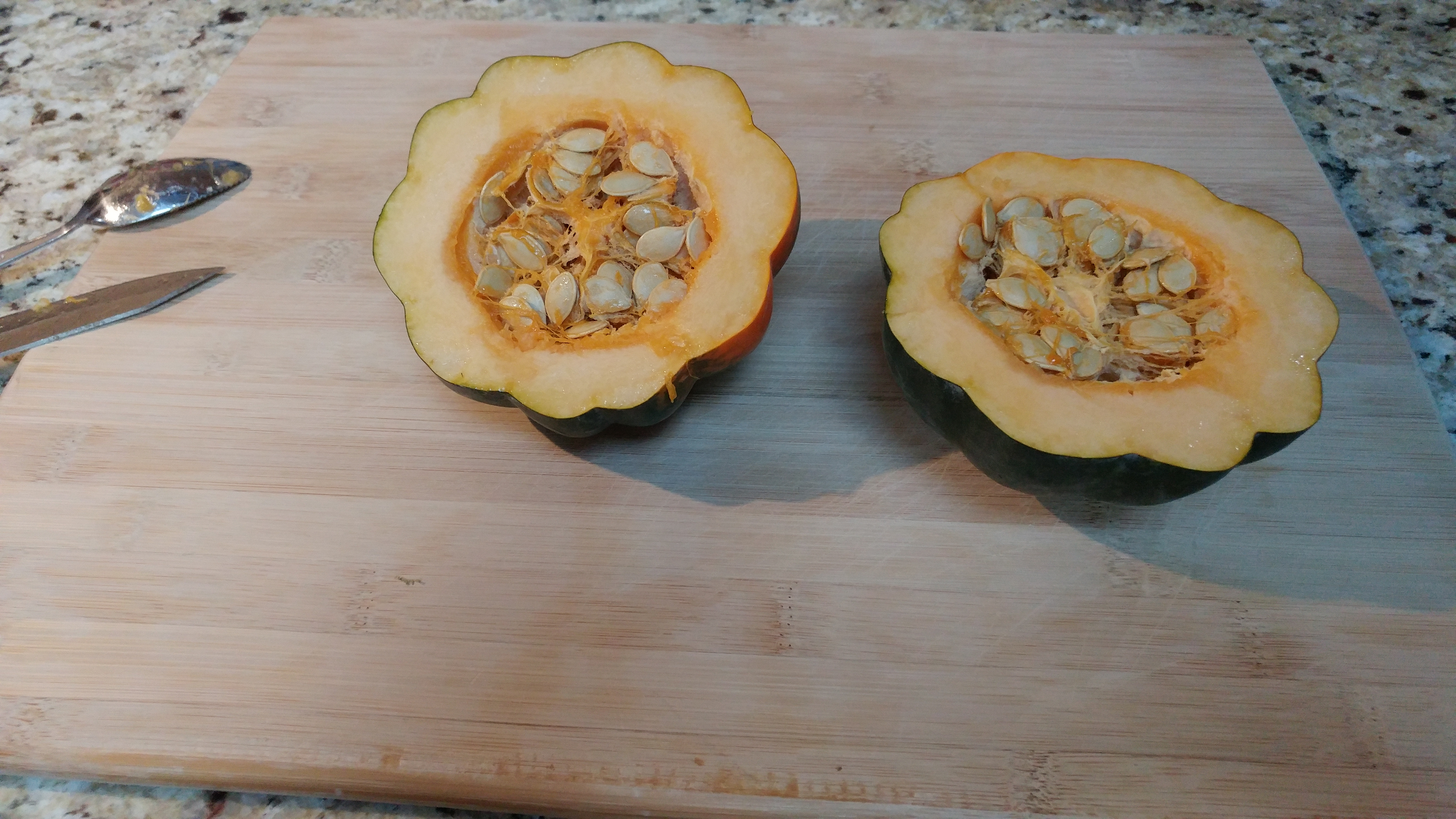 Acorn Squash With Seeds