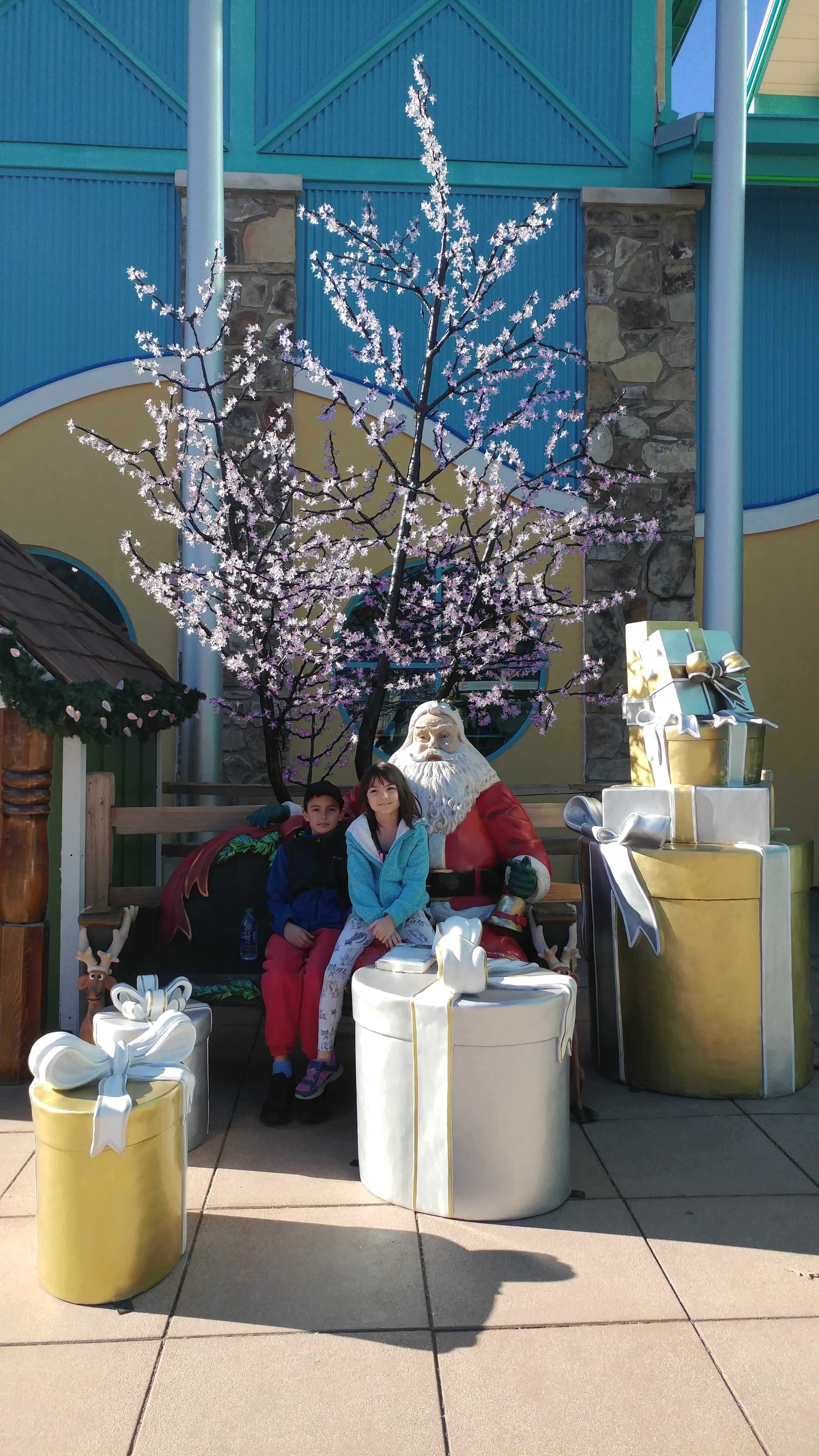 With Santa at the Aquarium