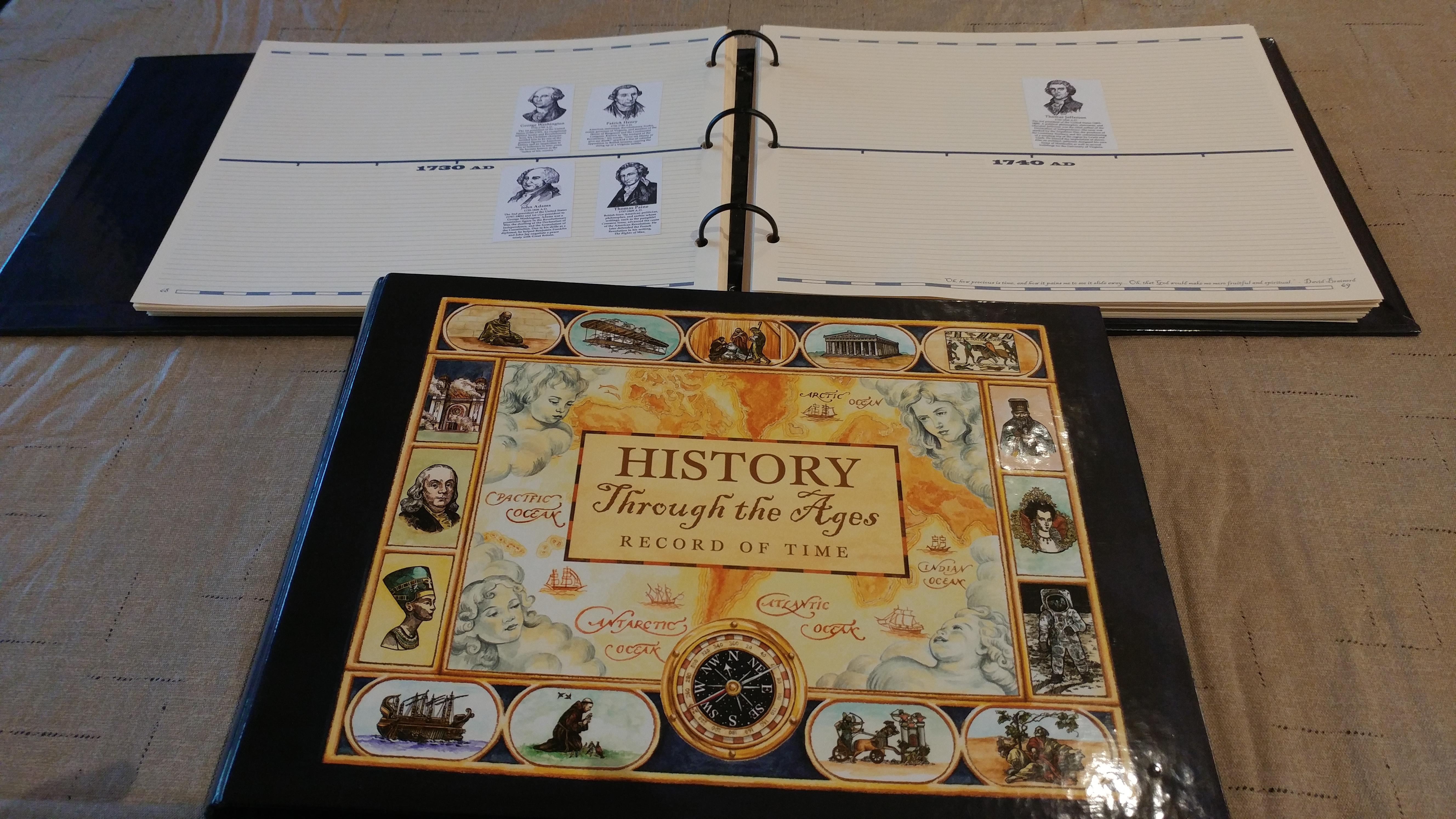 Timeline notebooks