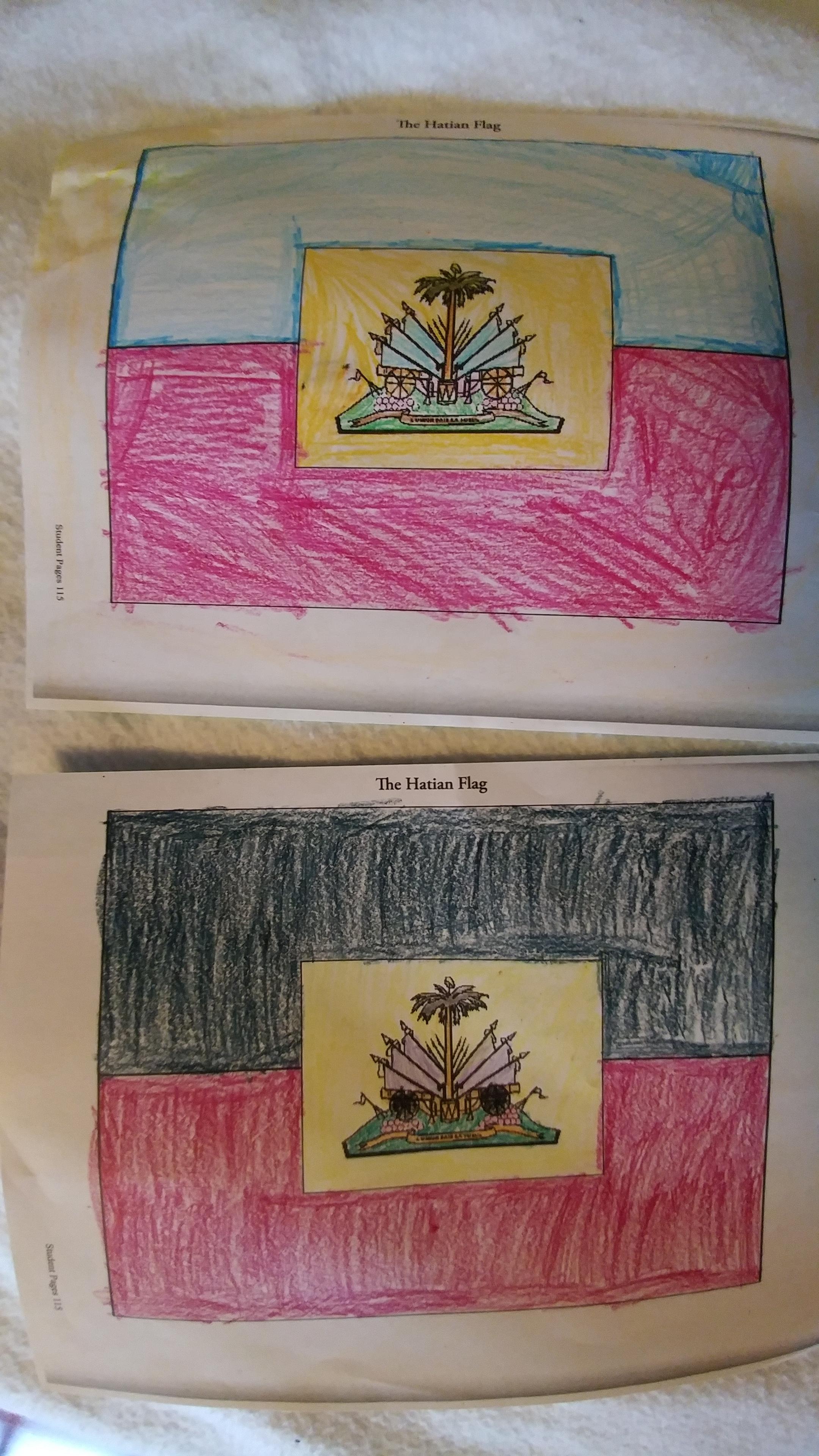 Haitian flags