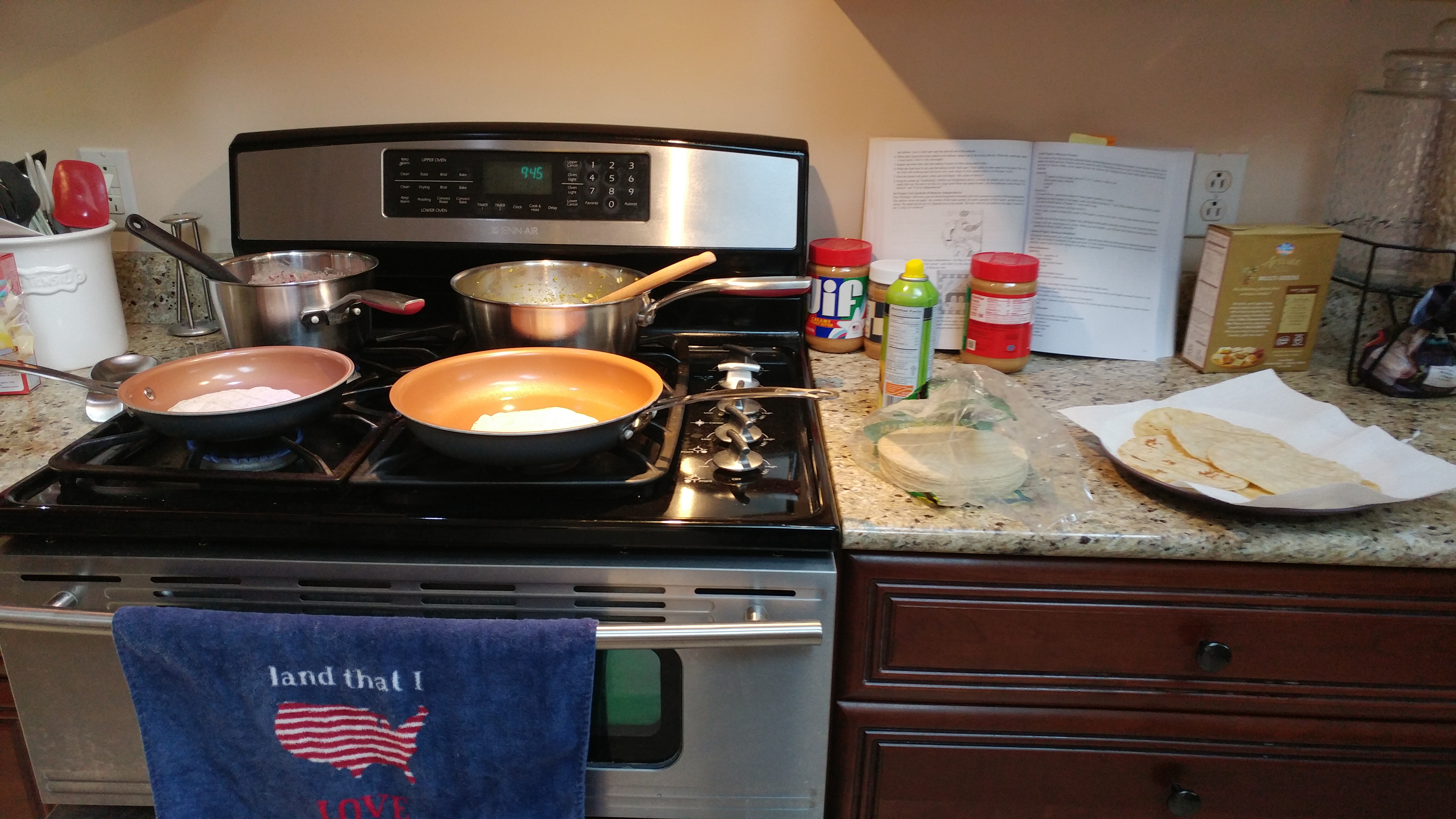Preparing huevos rancheros